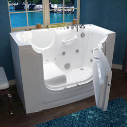 "Meditub 30"" x60"" Right Drain White Hydrotherapy & Air Therapy Wheelchair Accessible Bathtub"