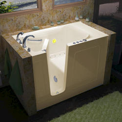 "Meditub 30"" x60"" Left Drain Biscuit Air Therapy Walk-In Bathtub"