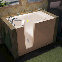 "Meditub 30"" x60"" Left Drain Biscuit Soaker Walk-In Bathtub"