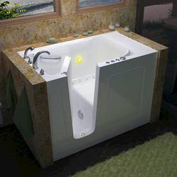 "Meditub 30"" x60"" Left Drain White Air Therapy Walk-In Bathtub"