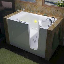 "Meditub 30"" x60"" Right Drain White Hydrotherapy & Air Therapy Walk-In Bathtub"