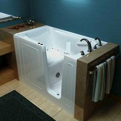"Meditub 32"" x60"" Right Drain White Air Therapy Walk-In Bathtub"
