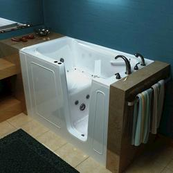 "Meditub 32"" x60"" Right Drain White Hydrotherapy & Air Therapy Walk-In Bathtub"