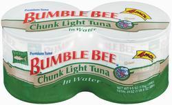 Bumble Bee Chunk Light Tuna in Water - 4-pk