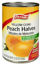 Parade Yellow Cling Peach Halves - 15.25 oz