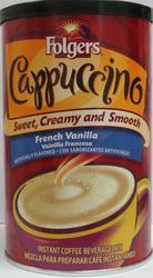 Folgers French Vanilla Cappuccino Mix - 16 oz