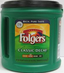 Folgers Classic Roast Decaf Ground Coffee - 33.9 oz