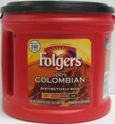 Folgers 100% Columbian Ground Coffee - 27.8 oz