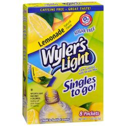 Wyler's Singles to Go Lemonade Soft Drink Mix - 12-ct