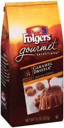 Folgers Gourmet Selections Caramel Drizzle Ground Coffee - 10 oz