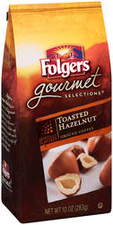 Folgers Gourmet Selections Toasted Hazelnut Ground Coffee - 10 oz