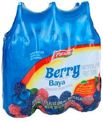 Parade Berry Blue Fruit Drink Squeezers - 6-pk
