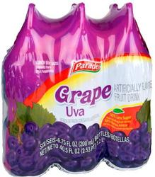 Parade Grape Fruit Drink Squeezers - 6-pk