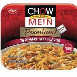 Nissin Teriyaki Beef Chow Mein - 4-oz Microwave Bowl