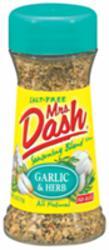 Mrs. Dash Garlic & Herb Seasoning Blend - 2.5 oz