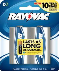 Rayovac D Alkaline Batteries - 2-pk