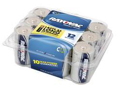 Rayovac C Alkaline Batteries - Reclosable 12-pk