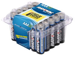 Rayovac AAA Alkaline Batteries - Reclosable 30-pk