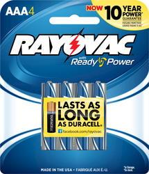 Rayovac AAA Alkaline Batteries - 4-pk