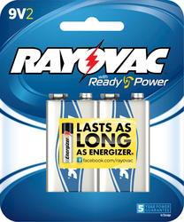 Rayovac 9V Alkaline Batteries - 2-pk