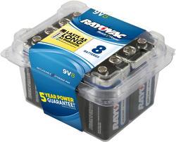 Rayovac 9V Alkaline Batteries - Reclosable 8-pk