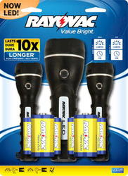 Rayovac Brilliant Solutions LED Flashlights Multi-Pack with Batteries