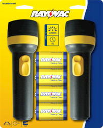 Rayovac Value Bright 2D Flashlights with Batteries - Twin Pack