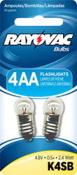 Rayovac Krypton Screw Base Bulbs for 4AA Flashlight - 2-pk
