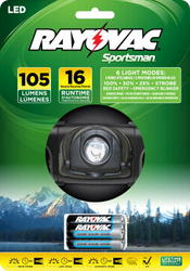 Rayovac LED Headlight with 6 Light Modes