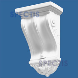 "Spectis 4-3/4"" x 12-3/8"" x 7-3/4"" Decorative White Poly Block"