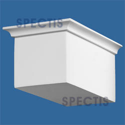 "Spectis 9-1/2"" x 4-3/4"" x 5-7/8"" Smooth White Poly Block"