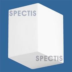 """Spectis 4-1/8"""" x 5"""" x 3-7/8"""" Smooth White Poly Block"""