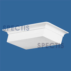 "Spectis 11-1/4"" x 3"" x 11-1/4"" Left Pitch Smooth White Poly Block"
