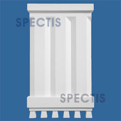 """Spectis 1-1/8"""" x 16-1/4"""" x 9-1/2"""" Dentil White Poly Block"""