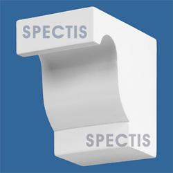 """Spectis 7-3/4"""" x 7"""" x 5"""" Smooth White Poly Block"""