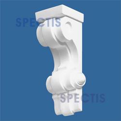 """Spectis 3-1/2"""" x 8-3/4"""" x 3-1/2"""" Decorative White Poly Block"""
