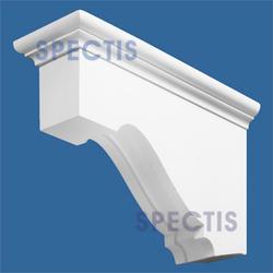 """Spectis 22"""" x 13-1/2"""" x 6-1/2"""" Decorative White Poly Block"""