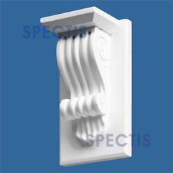 """Spectis 3-3/4"""" x 8-1/2"""" x 4-7/8"""" Decorative White Poly Block"""