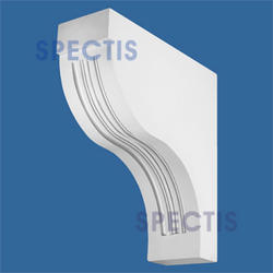 "Spectis 30"" x 32-1/4"" x 10"" Decorative White Poly Block"