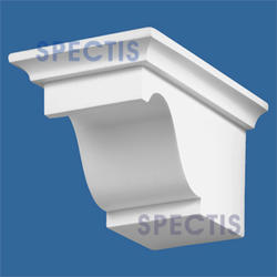 "Spectis 7-5/16"" x 4"" x 4-3/4"" Smooth White Poly Block with 9/12 Right Pitch"