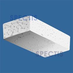 "Spectis 9"" x 2"" x 4-1/2"" Fossil Stone Finish White Poly Block"