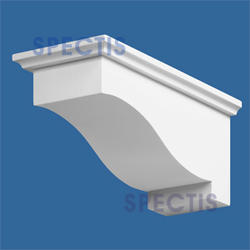 "Spectis 13-1/4"" x 6"" x 6"" Smooth White Poly Block"