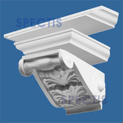"""Spectis 11-1/8"""" x 7"""" x 14"""" Right Pitch Decorative White Poly Block"""