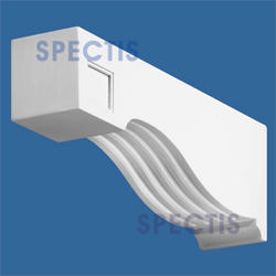 "Spectis 15-3/4"" x 5-1/2"" x 3-1/2"" Decorative White Poly Block"