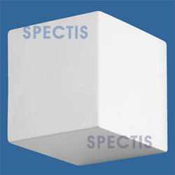 "Spectis 6"" x 6"" x 6"" Smooth White Poly Block with 8/12 Left Pitch"
