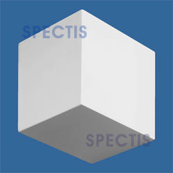"Spectis 5-1/2"" x 4-1/2"" x 4-1/2"" Smooth White Poly Block"