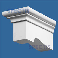 """Spectis 11-3/8"""" x 5-1/8"""" x 5-5/8"""" Right Pitch Smooth White Poly Block"""