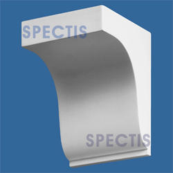 "Spectis 5"" x 6-1/4"" x 4-3/4"" Smooth White Poly Block with 10/12 Left Pitch"