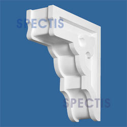 "Spectis 9-7/8"" x 10-3/4"" x 3-1/2"" Decorative White Poly Block without Spire"