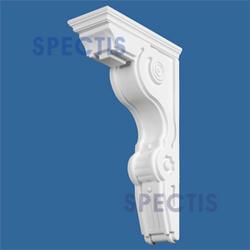 """Spectis 14-1/2"""" x 26"""" x 6-1/2"""" Decorative White Poly Block"""